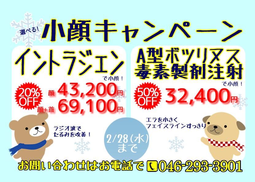2月_小顔キャンペーン